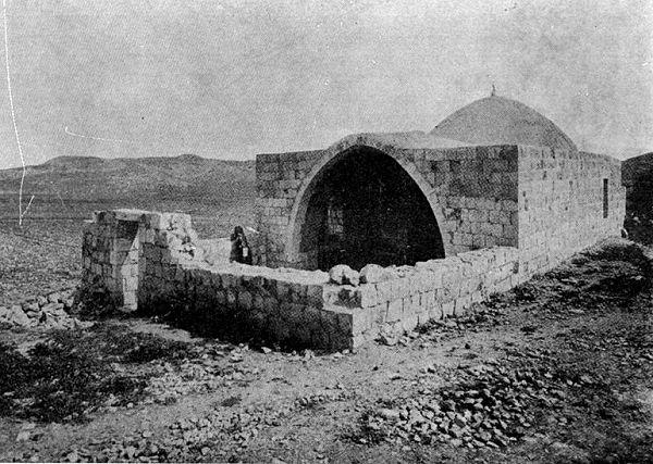 """קבר יוסף, המאה -19, הועלה ע""""י דניאל ונטורה"""